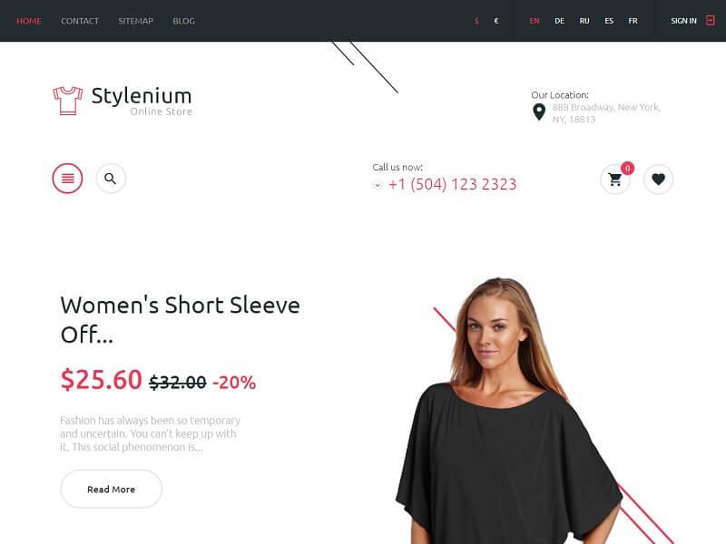 Stylenium- Fashion PrestaShop Themes